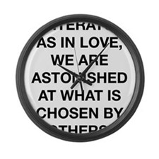 In Literature As In Love Large Wall Clock