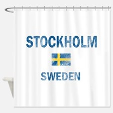 Stockholm Sweden Designs Shower Curtain
