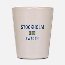 Stockholm Sweden Designs Shot Glass