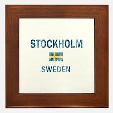 Stockholm Sweden Designs Framed Tile