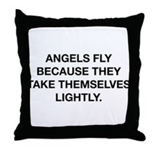 Angels Fly Throw Pillow