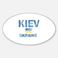 Kiev Ukraine Designs Sticker (Oval)