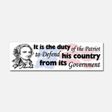 """Duty Of The Patriot"" Car Magnet 10 x 3"