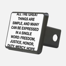A Single Word Hitch Cover