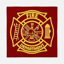 Firefighter Maltese Cross Queen Duvet
