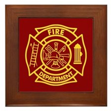 Firefighter Maltese Cross Framed Tile