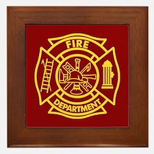 Firefighter Maltese Cross Framed Tile
