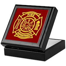 Firefighter Maltese Cross Keepsake Box