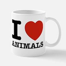 I Love Animals Small Small Mug