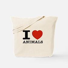 I Love Animals Tote Bag