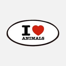 I Love Animals Patches