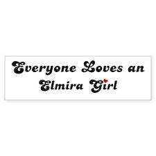 Elmira girl Bumper Bumper Sticker