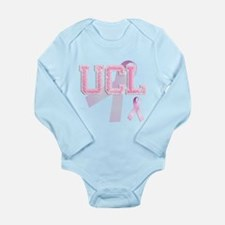 UCL initials, Pink Ribbon, Long Sleeve Infant Body