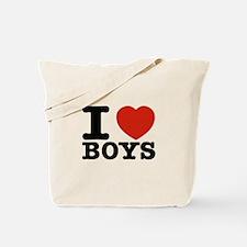 I Love Boys Tote Bag