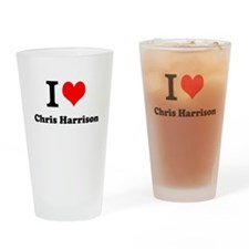 Cute Chris Drinking Glass