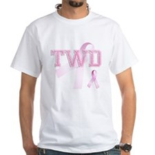 TWD initials, Pink Ribbon, Shirt