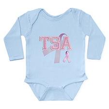 TSA initials, Pink Ribbon, Long Sleeve Infant Body