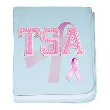 TSA initials, Pink Ribbon, baby blanket