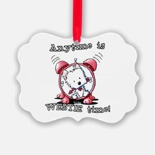 Anytime Is Westie Time Ornament