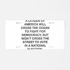 A Citizen Of America Aluminum License Plate