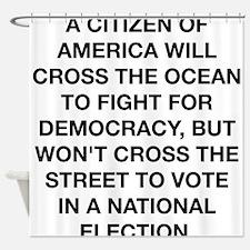 A Citizen Of America Shower Curtain