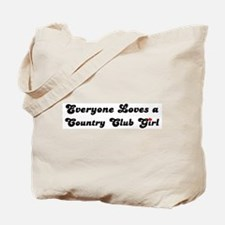 Country Club girl Tote Bag