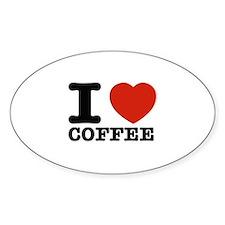 I Love Coffee Decal