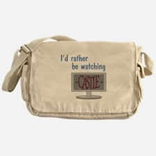 Rather Be Watching Castle Messenger Bag