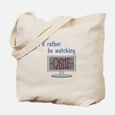 Rather Be Watching Castle Tote Bag