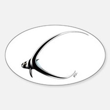 Juvenile Spotted Drumfish Oval Decal