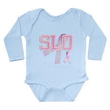 SLO initials, Pink Ribbon, Long Sleeve Infant Body