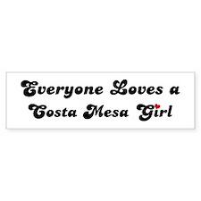 Costa Mesa girl Bumper Bumper Sticker