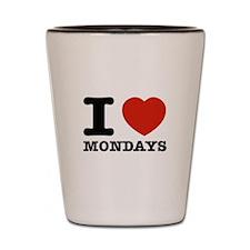 I Love Mondays Shot Glass