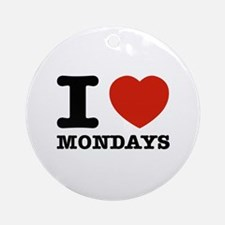 I Love Mondays Ornament (Round)