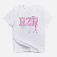 RZR initials, Pink Ribbon, Infant T-Shirt