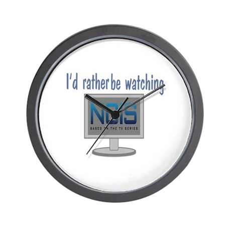 Rather Be Watching NCIS Wall Clock