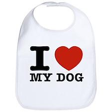 I Love My Dog Bib