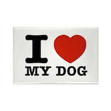 I Love My Dog Rectangle Magnet (100 pack)