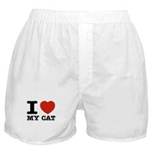 I Love My Cat Boxer Shorts