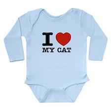 I Love My Cat Long Sleeve Infant Bodysuit