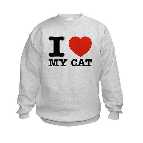 I Love My Cat Kids Sweatshirt