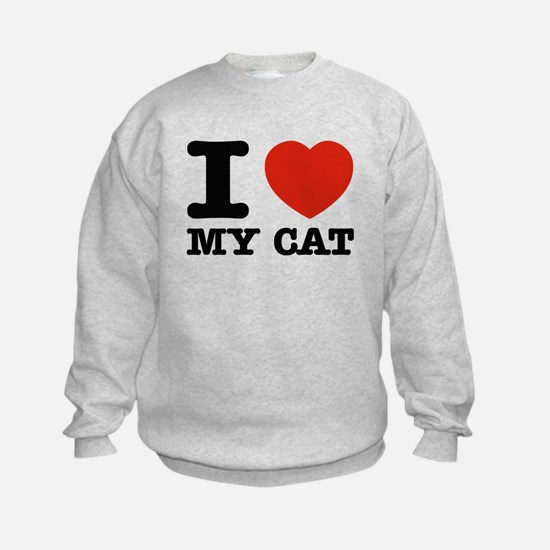 I Love My Cat Sweatshirt