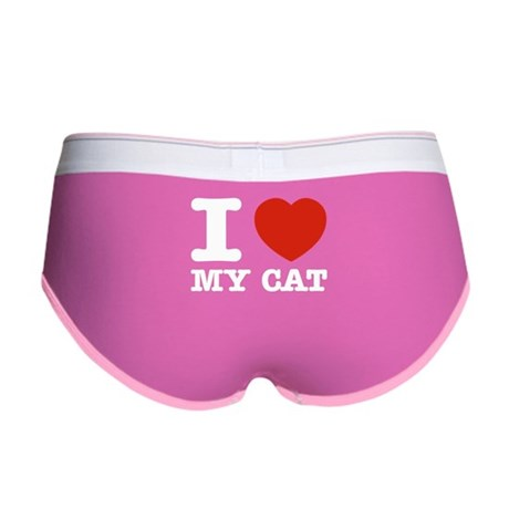 I Love My Cat Women's Boy Brief