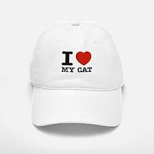 I Love My Cat Baseball Baseball Cap
