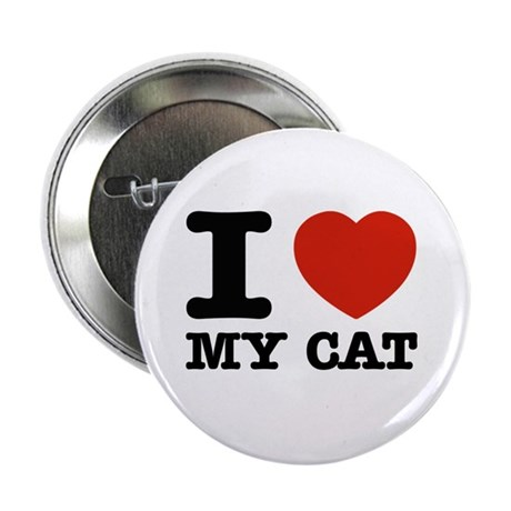 """I Love My Cat 2.25"""" Button (100 pack)"""