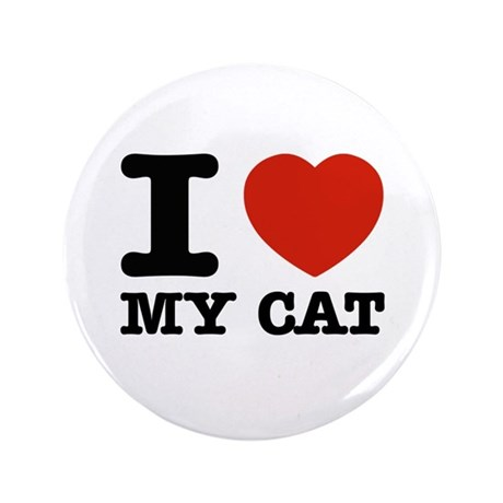 "I Love My Cat 3.5"" Button"