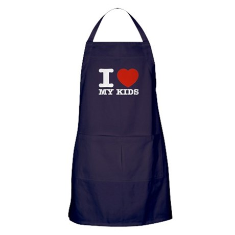 I Love My Kids Apron (dark)