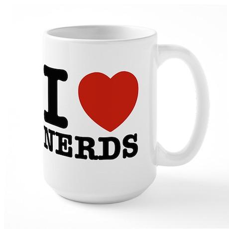I Love Nerds Large Mug