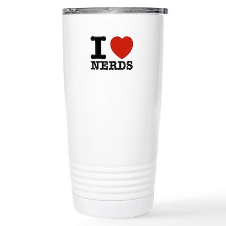 I Love Nerds Stainless Steel Travel Mug