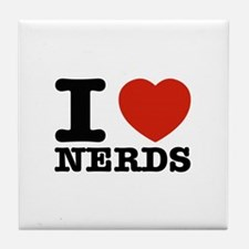 I Love Nerds Tile Coaster